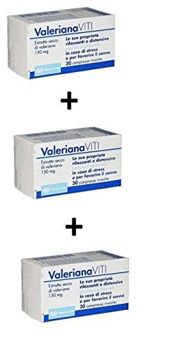 3X Valeriana Marco Viti 90 compresse per ANSIA FAVORISCE IL SONNO RILASSANTE