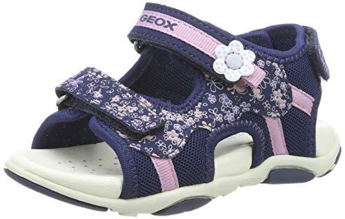Geox Baby Mädchen B AGASIM Girl A Sandalen Blau (Navy C4002) 24 EU
