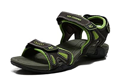Lee Cooper Men's Olive and Green Sandals and Floaters - 10 UK/India (44 EU)
