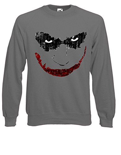 Clown Joker Mascara piccoli Felpa Elbrus, Maglia da uomo Charcoal