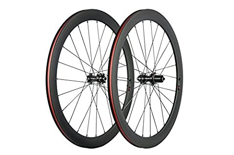 WINDBREAK BIKE 50mm Disc Brake Road Bicycle Wheelset 700c 23mm Carbon Clincher Wheel
