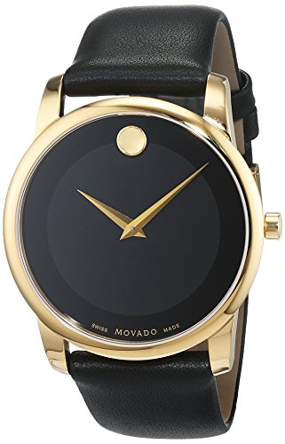 Movado Mens Analogue Classic Quartz Watch with Leather Strap 606876