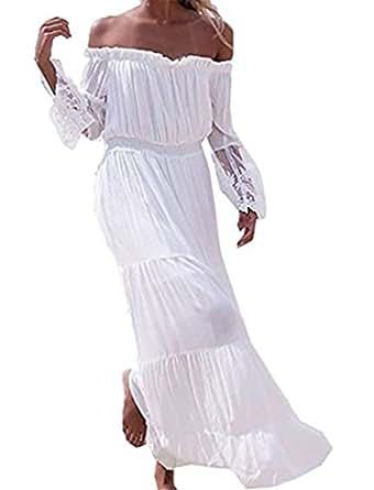 damen kleider strandkleid ininuk lang spitze partykleid elegant strand maxikleid sommerkleid. Black Bedroom Furniture Sets. Home Design Ideas