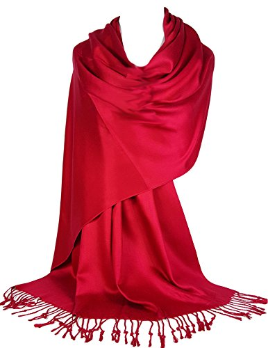 GFM Plain sehr glatte weiche Pashmina Style Wrap Schal (L9)(KSHMNA-160-08-SCLL)(T22)