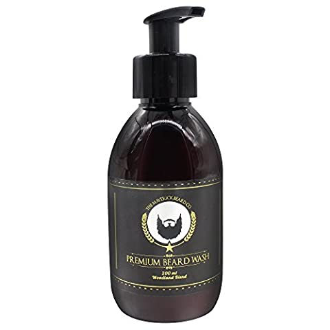 Beard Wash - The Maverick Beard Co - Premium - (200 ml) - Woodland Scent | Natural Facial Hair Shampoo and Conditioner for Men | Sulfate, Paraben