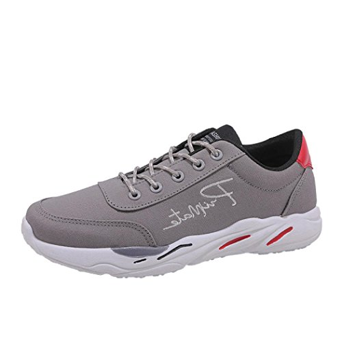 FNKDOR Herren Freizeitschuhe Sport Schuhe Laufschuhe Turnschuhe(EU:42 (CN:43),Grau)