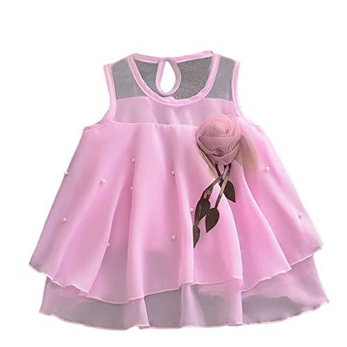 MEIbax Sommerkleid Kleinkind Baby Mädchen ärmellose Tüllrock Blumen Party Prinzessin Kleider A-Linie Weste Minikleid Abendkleid Hochzeit Partykleid
