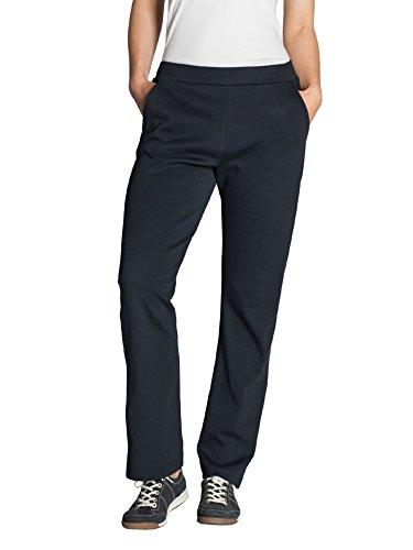 Walbusch Damen Cotton-Freizeit-Hose einfarbig in den Farben Blau, Grau, Marine, Grau Melange Marine