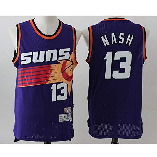 254e798eb0cae XH-Sport Jersey de los Hombres, NBA Phoenix Sun Nash # 13 Retro  Cómodo/Ligero/Transpirable Malla Bordada Camisetas Deportivas, Uniforme de  Abanico de ...