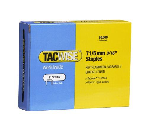 Tacwise 0366 Boîte de 20000 Agrafes galvanisées 5 mm Type 71