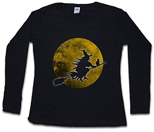 (Urban Backwoods Witch Moon Frauen Damen Langarm T-Shirt - Größen XS - 2XL)