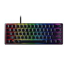 Razer Huntsman Mini (Violet Schakelaar) - Compact 60% Gaming Toetsenbord (Optische schakelaars, PBT-Toetsen, afneembare USB-C-kabel, Chroma RGB-verlichting) Zwart, US-layout