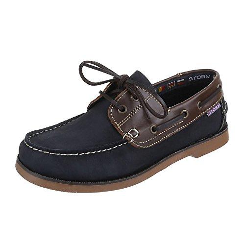 Herren Schuhe, 104, HALBSCHUHESCHNÜRSCHUHE, Dunkelblau, Gr 41 (Und Für Blaue Männer Nike-schuhe Graue)