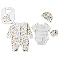 Lilly and Jack Baby Girls 5 Pieces Multipack Woodland Animals Baby Clothes, Multicolour, Newborn