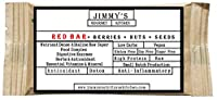 Jimmy's Gourmet Kitchen (Nutritional RED BAR)(Detox Anti-INFLAMMATORY ANTIOXIDANT)(Gluten Free Sugar Free Vegan)(50g Bar Pack of 6)