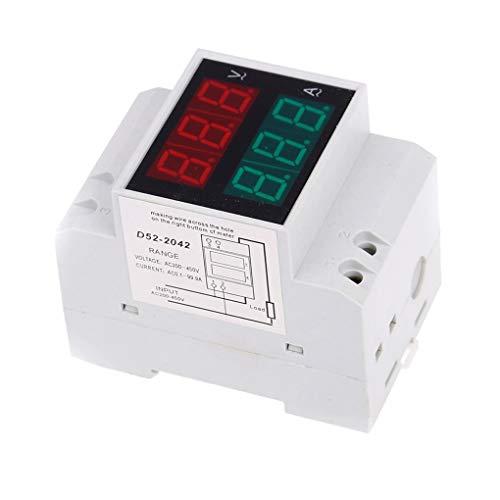 Ben-gi D52-2042 DIN Rail Voltmeter Amperemeter AC200-450V 100A Digital AC Spannung Stromzähler Industrie Elektrik V/A Tester
