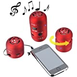 Water & Wood 3.5mm Black/Red Mini Hamburger Bass Speakers For iPod iPhone Laptop PC Mac