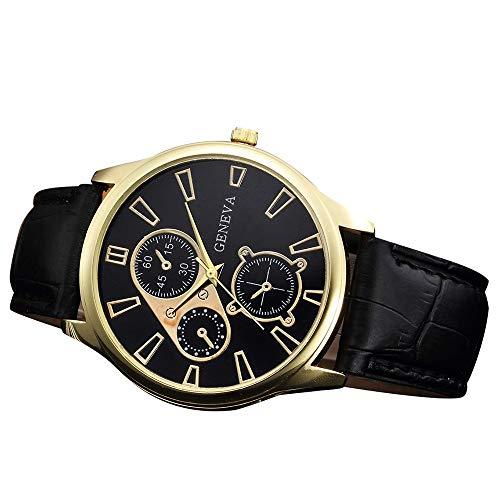 Obestseller Uhren Armbanduhr mit Lederband Einzigartige Casual Analog Quarz Uhren Classic Business Armbanduhr Retro Design Lederband Analog Alloy Quarz Armbanduhr