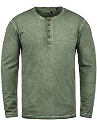 f14d876f3750d3 Solid Timur Herren Longsleeve Langarmshirt Shirt mit Grandad-Ausschnitt aus  100% Baumwolle !