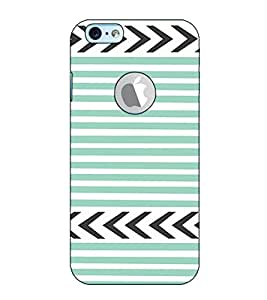 Fuson Designer Back Case Cover for Apple iPhone 6S (Logo View Window Case) (Grey Pattern theme)