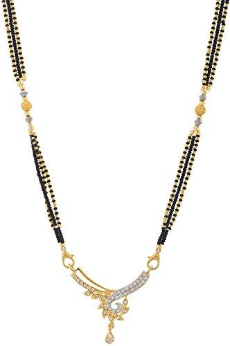Handicraft Kottage Fashion Jewelry Gold Metal Mangalsutra for Women (HK-AMG-507)