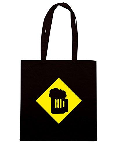T-Shirtshock - Borsa Shopping BEER0041 beer sign Nero