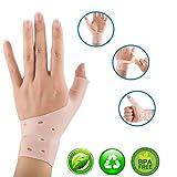 【Upgrade】 Atmungsaktive Gel-Handgelenk- und Daumenbandage für rechte und linke Hand, lindert nachweislich Handgelenk- und Daumenschmerzen, einschließlich Arthritis, Rheuma