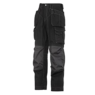 Snickers Men's Floorlayer Ripstop Trousers - Black, 50, Reg 50 (W35 L32