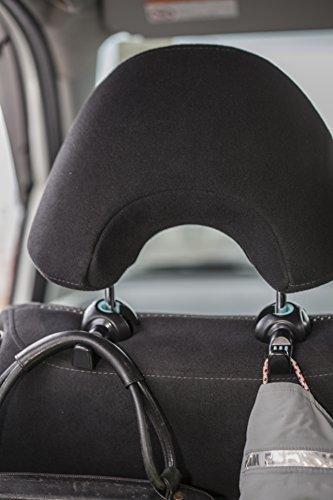 Cintre de voiture Wasserstein suspension et Support pour siège arrière appuie-tête voiture et SUV (lot de 2)