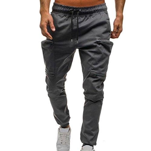 Amlaiworld Gemütlich Trekking Sport Herren Hosen Locker Mode Freizeithosen Kordelzug lässig männer Haremshosen Outdoor Jogginghose Bunt Cool Pants
