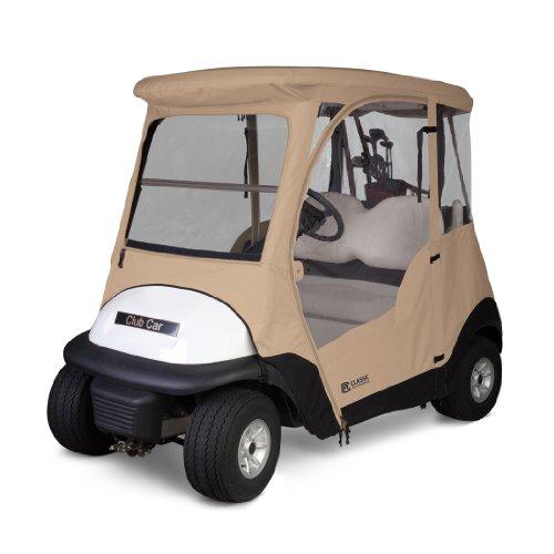 Fairway Classic Zubehör Deluxe 4-seitig 2Personen Golfwagen Gehäuse für Club Auto, Tan