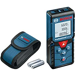 Bosch Professional Télémètre Laser GLM 40 (2 piles 1,5 V LR03, Portée : 0,15- 40,00 m, IP 54, Housse de protection)