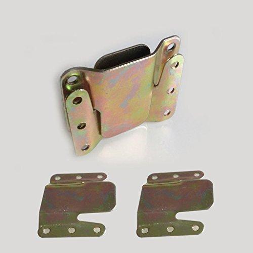 Homyl 2 Stk. Universal Möbelverbinder Steckverbinder Bettverbinder Sofaverbinder mit 12 Schrauben
