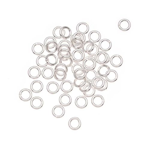 Beadaholique 25-Piece Sterling Open Jump Rings, 4mm, 19-Gauge, Silver by Beadaholique