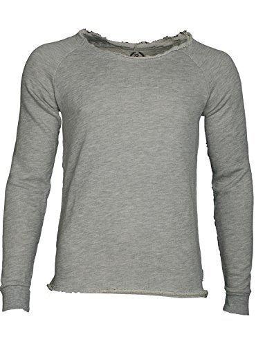 Boom Bap Herren BASIC Sweatshirt (L, mixed grey)