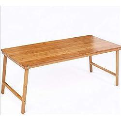 NAN Table Basse Pliante en Bambou Table Basse Petite Table Bureau d'ordinateur