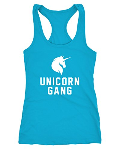 Einhorn Shirt Tank-Top Unicorn Gang Moonworks® Gang 2 türkis