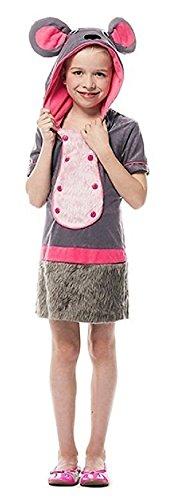 L3100440-164 Kinder Mädchen Maus-Kostüm Gr.164