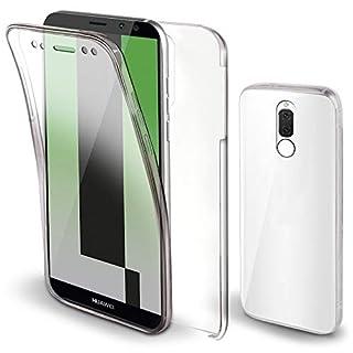 Moozy 360 Grad Hülle für Huawei Mate 10 Lite - Vorne und Hinten Transparent [Hart PC Zurück, Weiche TPU Silikon Vorderseite] Dünne Handyhülle Case