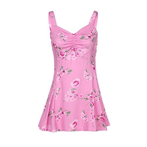 KaloryWee Women Summer Sleeveless Floral Vest Tank Tops Ladies Casual Blouse T-Shirt