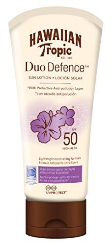Hawaiian Tropic DUO DEFENCE SPF 50, Doppia protezione, solare e dall'inquinamento - 180 ml