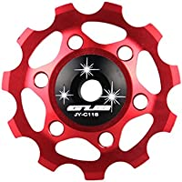 MaMaison007 Ciclismo posteriore Guida Deragliatore ruota di bicicletta Mech deragliatore puleggia ruote in lega di alluminio 11T