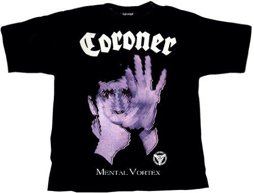 Coroner Mental Vortex T-Shirt, XL / Extra-Large (o134) -