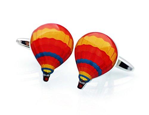 Boutons de manchette en forme de montgolfière Aviation manchette Gemelos Tailor 022005-1 Air B