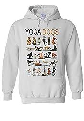Yoga Dogs Funny Gym Pug Novelty White Men Women Unisex Hooded Sweatshirt Hoodie