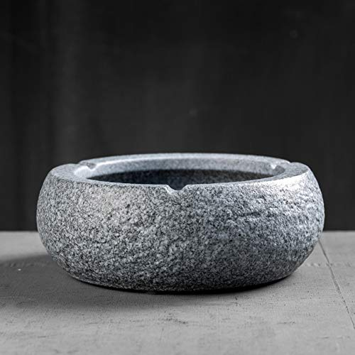 Shuqicheng Cenicero de cerámica Oficina en casa Sala de Estar Medio y pequeño Cerámica Moda Sencilla, Estilo japonés Cenicero para el Viento (Color : B, Tamaño : 17.5cm)