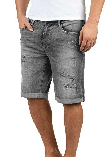 Blend Deniz Herren Jeans Shorts Kurze Denim Hose Mit Destroyed-Optik Aus Stretch-Material Regular Fit, Größe:M, Farbe:Denim grey (76205)