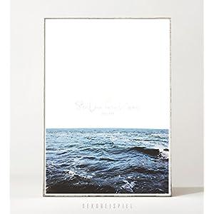 Kunstdruck / Poster THE SEA -ungerahmt- Ozean, Wellen, Meer, minimalistisch