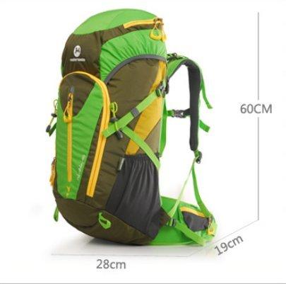 Im Freienberg Taschen/Wanderrucksack/Damen und Herren Schultertaschen/Outdoor-camping-Ausrüstung-grün 48L grün