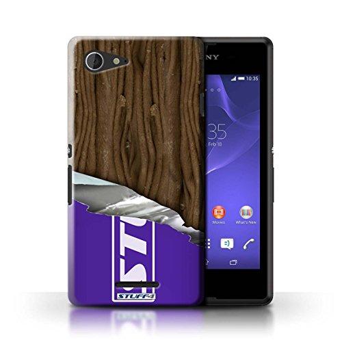Kobalt® Imprimé Etui / Coque pour Sony Xperia E3 / Blocs Dairy Milk conception / Série Chocolat Flake/Flocon Enveloppé